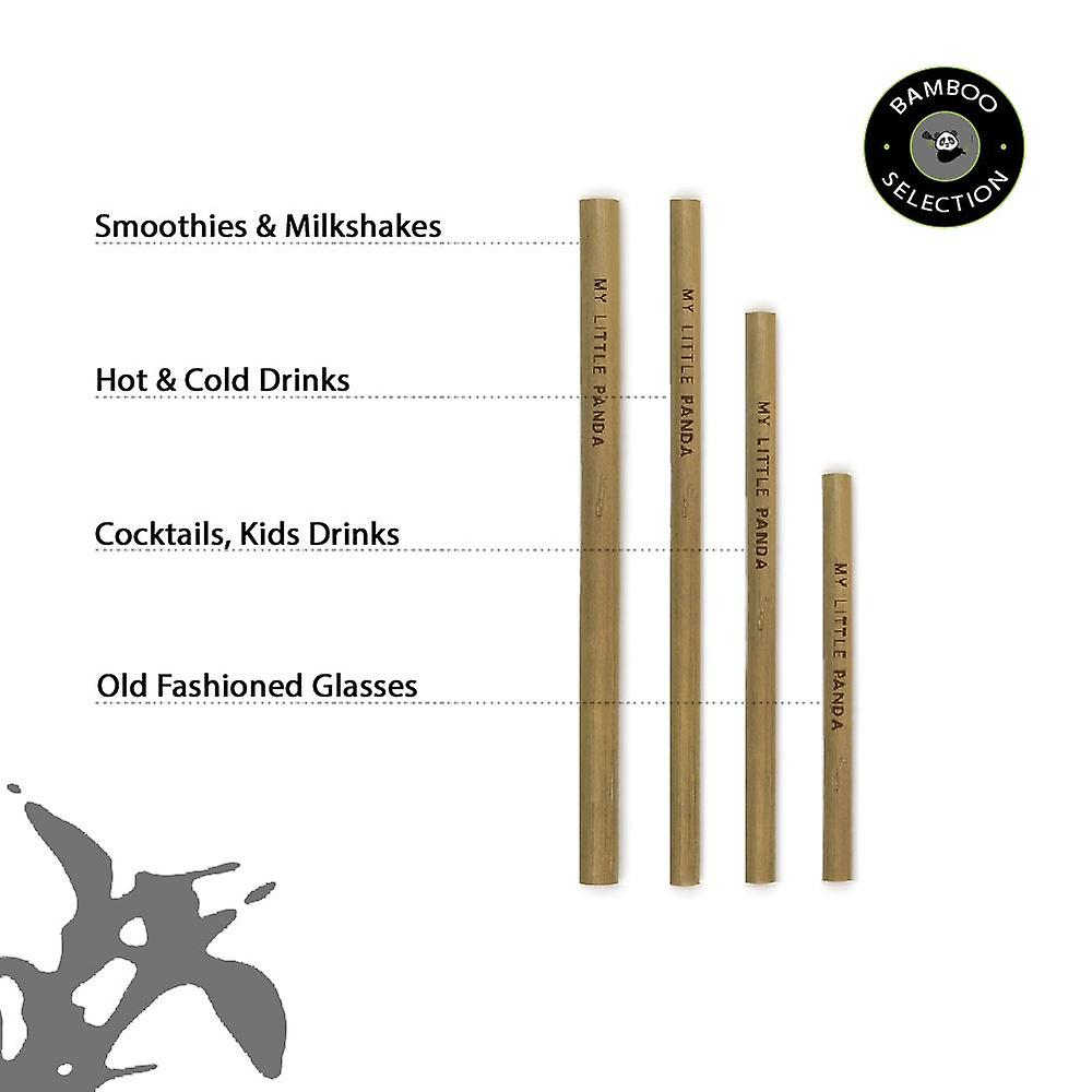 Bamboo straws for events pack of 100