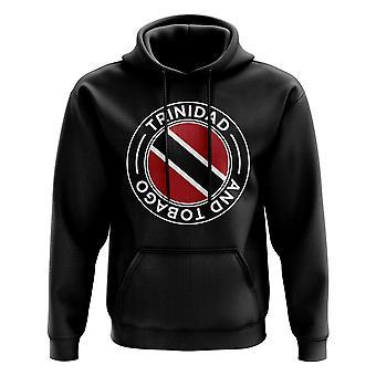 Trinidad en Tobago voetbal badge hoodie (zwart)