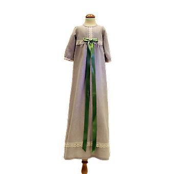 Taufen Kleid Gnade von Schweden, langärmeligen und hellgrünen breiten Bogen