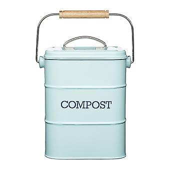 Retro Style Lidded Compost Bucket