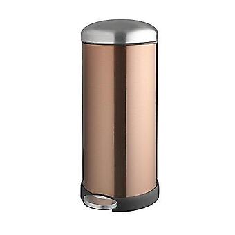30Litre Retro Soft Close Metal Pedal Bin Copper