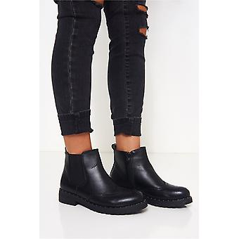 Sort studded Chelsea støvler