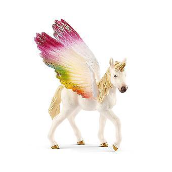 Schleich 70577 geflügelte Rainbow Unicorn/Fohlen Figur