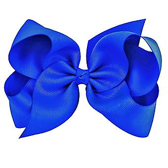 Royal Blue Grosgrain Bow Clip - Extra Stora bågar med, Royal Blue, Storlek en storlek