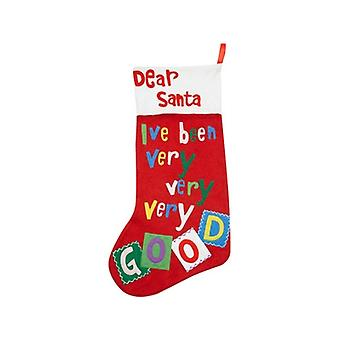 Gisela Graham  Dear Santa Childrens Christmas Felt Stocking
