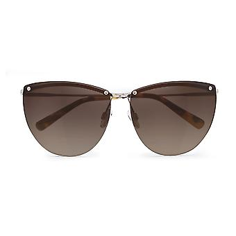 D'blanc tan lines sunglasses polished gold / brown gradient