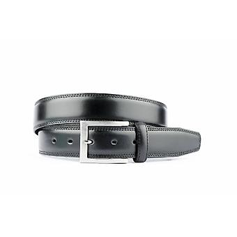 Black Leather Men's Belt