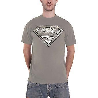 Official Mens Superman T Shirt Classic Logo new Grey DC Comics Size Small