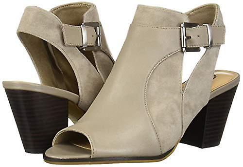 Bella Vita Women's Kellan Block Heel Sandal Shoe, Stone Leather/Suede Leather...