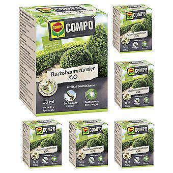 Sparset: 6 x COMPO Buchsbaumzünsler K.O., 50 ml