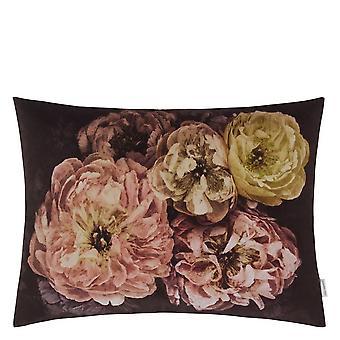 Designers Guild Le Poeme De Fleurs Floral Cushion In Rosewood Pink
