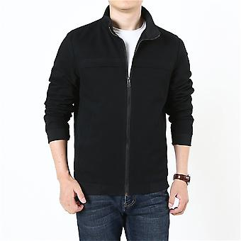 Allthemen Men's Casual Cotton Giacca zip-up Solid Stand Collar Outerwear