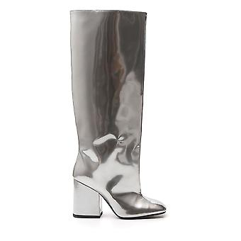 Marni Stms001709lv43100n20 Women's Silver Leather Boots