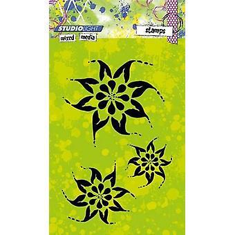 Studio luce mista A6 francobolli-fiori