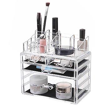 OnDisplay kosmetisk makeup og smykker opbevaring sag display-4 skuffe design-perfekt til forfængelighed, badeværelse counter, eller kommode
