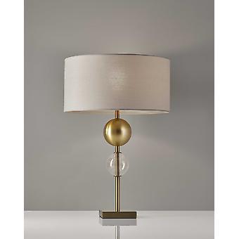 """16"""" X 16"""" X 24"""" Brass Metal Table Lamp"""