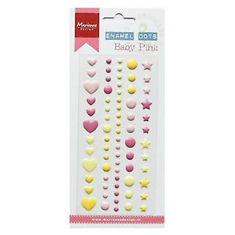 Marianne Design Decoration Enamel dots - Baby pink PL4512