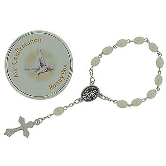 Juliana Girls 'My Confirmation' Simulated Pearl Rosary Bracelet 6