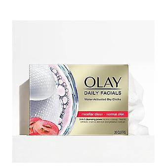 Olay Cleanse Daily Facials Micellar Toallitas Secas Pn 30 Uds For Women