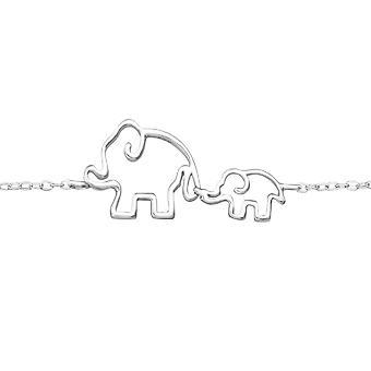 Elephant - 925 Sterling Silver ketjun Rannekorut - W34944x