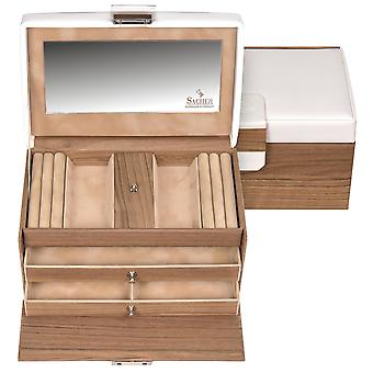 Sacher jewelry case jewelry box NORDIC STYLE white wood look Castle mirror