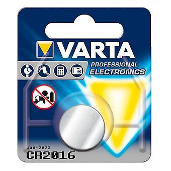 Lithium Button Cell Battery Varta CR-2016 3 V Silver