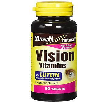 Mason natural vision vitamins plus lutein, tablets, 60 ea