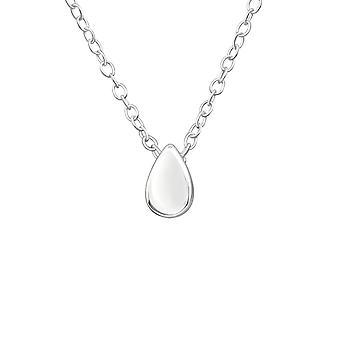 Drop - 925 Sterling Silver Plain Necklaces - W17736x
