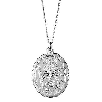 Orton West Small St Christopher Pendant - Silver