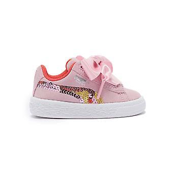 Puma suede hart trailblazer paljetti vauva lapset tytöt muoti kouluttaja kenkä vaaleanpunainen
