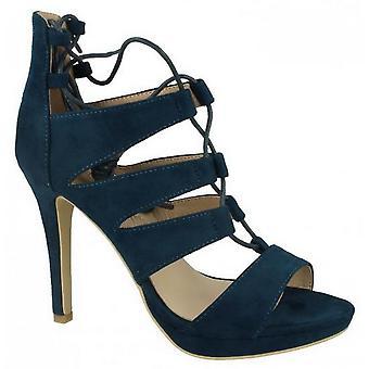 Anne Michelle mujeres/damas estilete tacón Peep Toe con encaje zapatos
