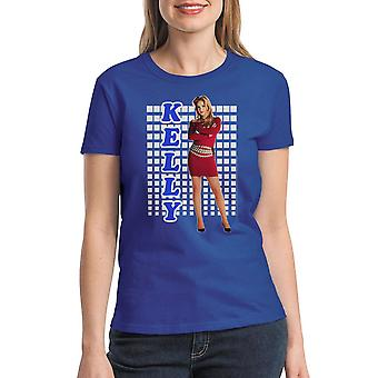 Married With Children Kelly Tight Red Dress Women's Royal Blue T-shirt
