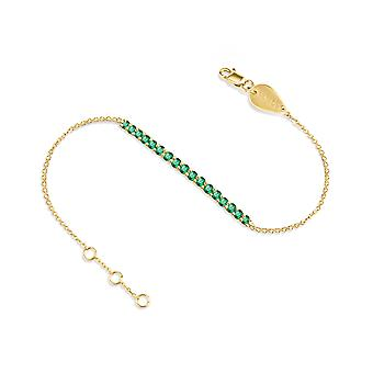 Bracelet Ophelia Precious Stones 18K Gold - Ruby | Emerald | Sapphire - Yellow Gold, Emerald