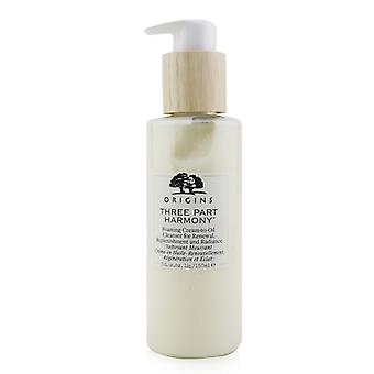 Three Part Harmony Foaming Cream-to-oil Cleanser For Renewal Replenishment & Radiance - 150ml/5oz