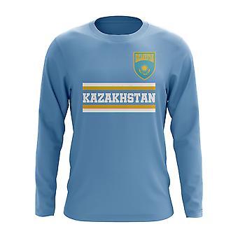 Kazakhstan Core Football Country Long Sleeve T-Shirt (Sky)