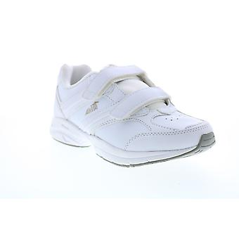 Avia  Womens White Leather Low Top Athletic Walking Shoes