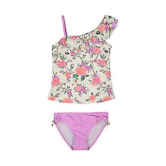 Tommy Bahama Girls' 2-Piece Tankini Swimsuit Bathing Suit Bikini, Floral Lave...