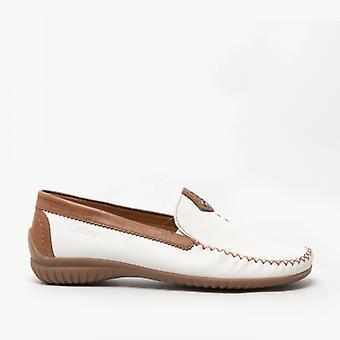 Gabor California Ladies Leather Loafers Bianco