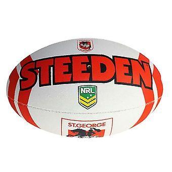 Steeden NRL St. George Illawarra Dragons Supporter 2020 Rugby Ball White/Red