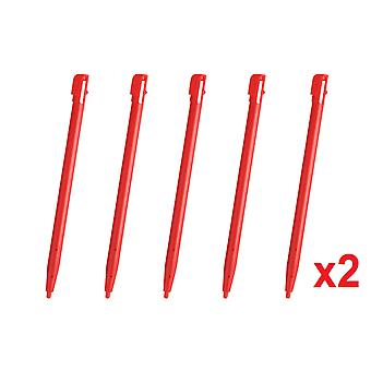 10 Red Touch Stylus Pen For Nintendo DSi NDSi Rigid Plastic New