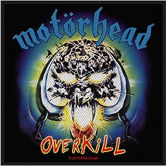 Motorhead Overkill de Patch bande logo nouveau officiel tissé (10 cm x 10 cm)