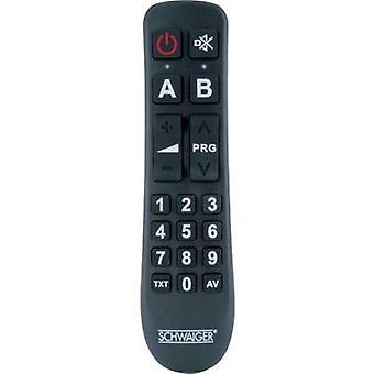 Schwaiger UFB1100 533 universelle Controle remoto Preto