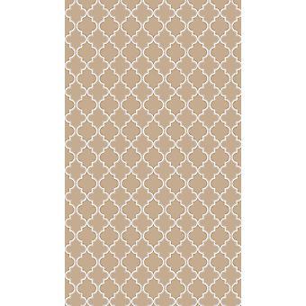 Lily 13 Rosa Farbe gedruckt Teppich, Polyester weiß, Baumwolle, L80xP300 cm