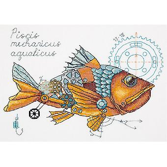 Panna Cross Stitch Kit : Clockwork Fish