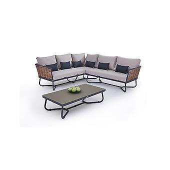 Polyrattan Seating gruppe Cassius - honning