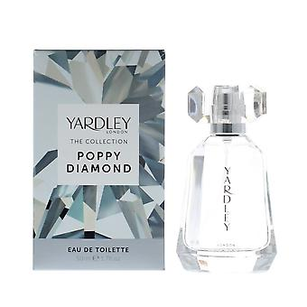 Yardley The Collection Poppy Diamond Eau de Toilette 50ml Spray For Her