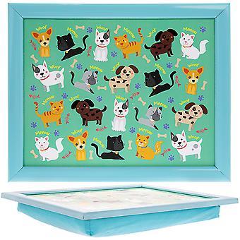 Cães e gatos de travesseiro de colo infantil