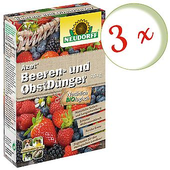Sparset: 3 x NEWDORFF Azet® Marja- ja hedelmälannoitetta, 2,5 kg