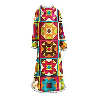 YANGFAN 3D Color Modern Geometry Print Wearable Blanket