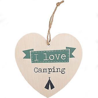 Etwas anderes Liebe Camping hängende Herz Zeichen
